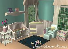 90+ TS2- Nursery Ideas | Nursery, Sims 2, Sims