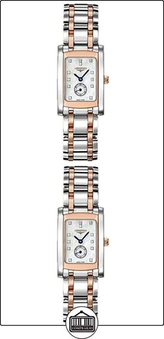 LONGINES RELOJ DE MUJER CUARZO SUIZO CORREA DE ACERO DOBLE TONO L51555887  ✿ Relojes para mujer - (Lujo) ✿
