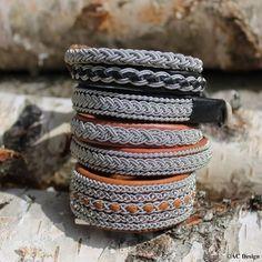 Swedish Sami bracelets! Handmade in genuine reindeer leather. www.acdesign.se #acdesign #bracelets #viking #Sami #leather #vikingjewelry #jewelry #jewellery #giftforher #mensjewelry #armband #scandinaviandesign #black #brown #laponie #nordic