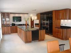 Black high gloss and walnut kitchen Walnut Kitchen Cabinets, Contemporary Kitchen Cabinets, Updated Kitchen, Home Kitchens, Liquor Cabinet, High Gloss, House, Bath Ideas, Furniture