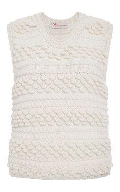 Sleeveless Scallop Stitched Hand Knit Top by ORLEY. Image via Moda Operandi