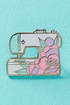 FLORAL SEWING MACHINE Pin