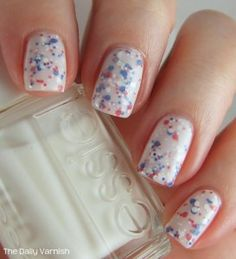 Essie Marshmallow and Finger Paints Red White & Hue | Daily Varnish