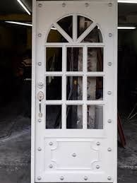 Imagen relacionada Steel Doors, Wood Doors, Door Grill, Door Gate Design, Wrought Iron Doors, Grill Design, Unique Doors, Security Door, Iron Gates