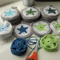 "Northern Star pattern from ""P.S. I crochet"" -- love it!"
