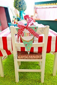 Carnival table pennants: Schoolgirl-Style Shop