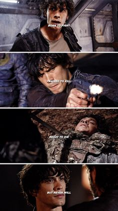 Bellamy Blake is one hell of a fighter! No arguing with that.
