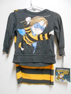 Adorable Baby Bumblebee Shirt W/Honey Bee Cape NEW FUN Shirt SIZE 12 Month Boys #BumblebeeBoy #Everyday