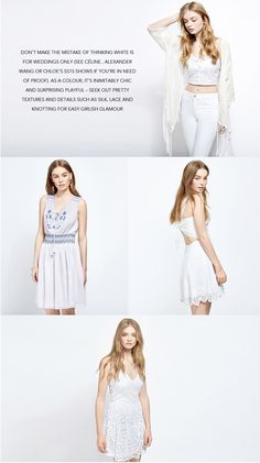White Out 2 White Out, Miss Selfridge, Alexander Wang, Asos, Silk, Chic, Outfits, Shopping, Clothes