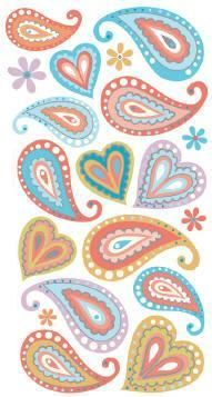 paisley mania colourful design picture and wallpaper