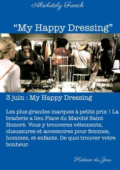 #3Juin #June3rd #MyHappyDressing #MarchéSaintHonoré #Vetements #HistoireDuJour #Histoire #StoryOfTheDay #Story #Learn #French #AbsolutelyFrench
