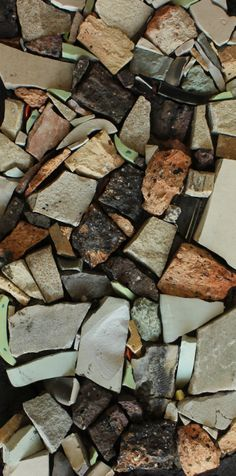 Contemporary Style Mosaic - Size of tesserae are not uniform, and used in a contemporary application.