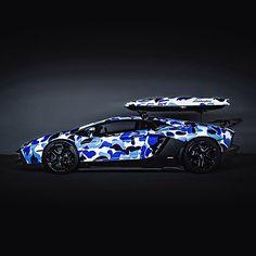 """Car @Lamborghini Aventador """"BAPE CAMO"""" (@bape_jp)"""