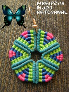 Tutorial circulo triangular en macrame