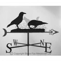 ☜(◕¨◕)☞   Crows Weathervane
