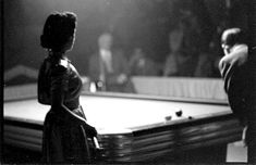 Photo taken at a pool tournament in 1952. How cool is that?