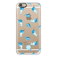 iPhone 6 Plus/6/5/5s/5c Case - Nutty Narwhals Transparent Case by... (51 CAD) ❤ liked on Polyvore featuring accessories, tech accessories, phone cases, phones, iphone case, iphone cover case, slim iphone case, apple iphone cases and transparent iphone case