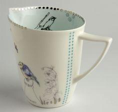 Pretty blue jug by Lowri Davies, bowie gallery, uk