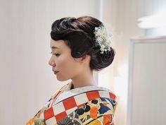 . · · my work. . . . #wedding #bridal #l4l #ブライダル #京都 #ブライダルヘア #ヘアアレンジ #ヘアメイク #モダン #フィンガーウェーブ #写真を撮る... #yooying