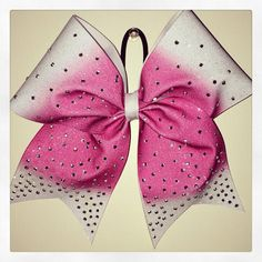 Pink ombre glitter rhinestone bow by Bowtique603 on Etsy