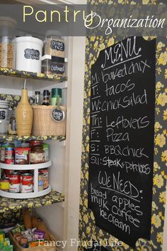 Pantry Organization by Fancy Frugal Life