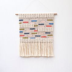 Woven macrame wall hanging / sprinkles by KateAndFeather on Etsy
