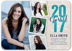 Graduation Invitations: Fabulously Frosted,  Invitation, Rounded Corners, Blue