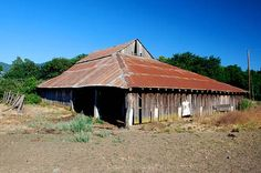 Rustic Old Barn on the Birdseye Ranch in Jackson County, near the Rogue River.  The Ranch was founded in 1853.  Oregon State