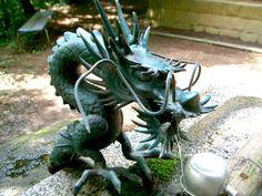 Japanese Dragon water fountain in Fujiyoshida.