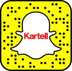 """Kartell Snapcode! Add """"kartellofficial!"""" and follow us during the Milano Design Week 2016!"""