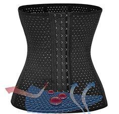 Power Burn Waist Trainer waist cincher corset waist trainer long shaper shapewear for women tummy control Exercise fitness woman mom curves hourglass waist health care lumbar back support (XXL Black)