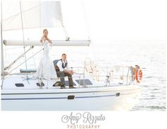 Can't get over these gorgeous shots by Amy Rizzuto Photography! Santa Barbara Yacht Wedding Shoot