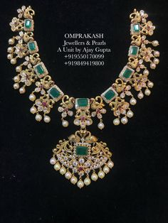 The Most Loved Necklace customized with Detachable Locket.A very Pretty Combination(Necklace Choker Locket) 07 August 2018 Jewelry Design Earrings, Gold Earrings Designs, Emerald Jewelry, Gold Jewellery Design, Necklace Designs, Gold Designs, Gold Wedding Jewelry, Bridal Jewelry, Gold Jewelry
