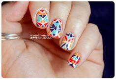Wondrously Polished: Vibrant Aztec Nails
