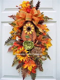 Welcome - Timeless Floral Boutique Christmas Mesh Wreaths, Thanksgiving Wreaths, Fall Wreaths, Thanksgiving Decorations, Fall Decorations, Halloween Wreaths, Fall Swags, Autumn Crafts, Tree Toppers