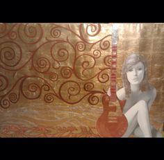 """""""Musica Eterna"""" 48""""x 60"""" Oil on satin. 2010"""