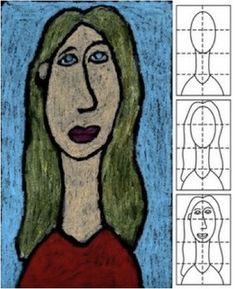 children's art project (mannerism/parmigianino - elongation)