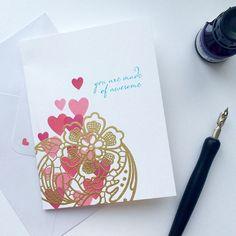 """Love Card for the Altenew February challenge at Altenew.wordpress.com with amazing @altenewllc stamps :)/ Открытка по заданию от Altenew, очень нравится…"""