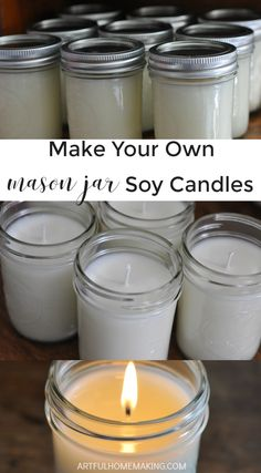 How to Make Homemade Soy Candles