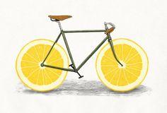 """ART PRINT / MINI (10"""" X 7"""") Zest by Speakerine / Florent Bogart #society6 #illustration #oranges or #limon"""
