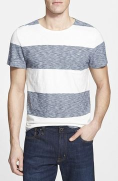 Faherty+'CJ'+Trim+Fit+Stripe+Pocket+T-Shirt+available+at+#Nordstrom