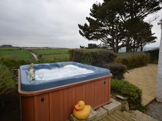 Farm Cottage, Portreath, Cornwall, England, Sleeps 4, Bedrooms 2, Self-Catering Holiday Cottage With Hot Tub, Pet Friendly.