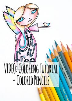 Easy Coloring with pencils with a video by Kim Dellow Colors used ...