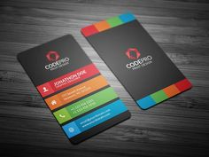 ColorFul Vertical Business Card by Galaxiya on @creativemarket