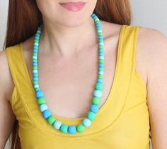 diy painted bead necklace - Gina Michele  how to paint beads