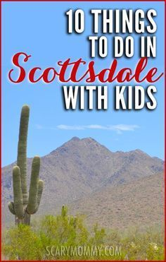 Planning a trip to Scottsdale, Arizona? Get great tips and ideas for fun things to do with the kids (from a real mom who KNOWS) in Scary Mommy's travel guide!  summer | spring break | family vacation | parenting advice