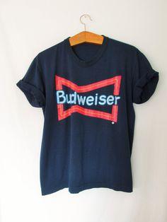 Vintage Budweiser Beer TShirt by FreshtoDeathVintage on Etsy