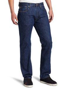 Levi's Men's 501 Original Fit Jean, Dark Stonewash, 35X30 for sale