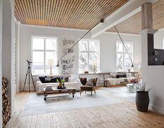 contemporary modern loft interior sans design. mix & match, old & new