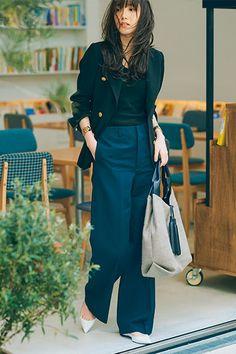 Office Outfits Women, Stylish Work Outfits, Fall Outfits For Work, Chic Outfits, Fashion Outfits, Black Outfits, Korean Fashion Work, Japanese Street Fashion, Japan Fashion Casual
